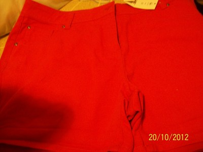 How to make shorts. Red Short With Studs - Step 1