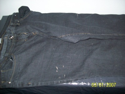 How to make jeans. Diy: Bleach Project - Step 2