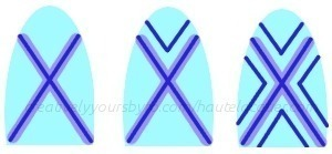 How to paint an x nail manicure. X Marks The Spot Nail Art And Tutorial! - Step 2