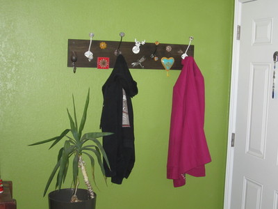 How to make a hook or rack. Awesome Coat Rack - Step 5