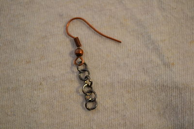 How to make a set of metal earrings. The Age Of Brass Earrings. - Step 2
