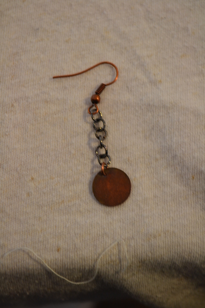 How to make a set of metal earrings. The Age Of Brass Earrings. - Step 3