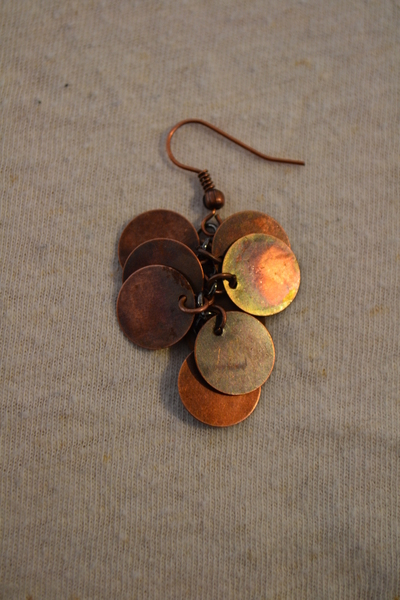 How to make a set of metal earrings. The Age Of Brass Earrings. - Step 5
