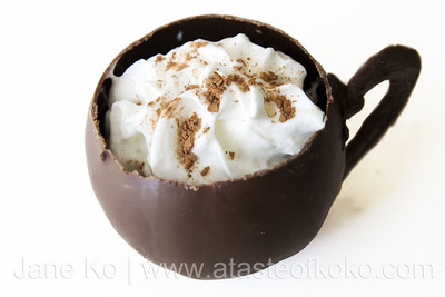 How to make a chocolate cup. Hot Chocolate Cups - Step 4