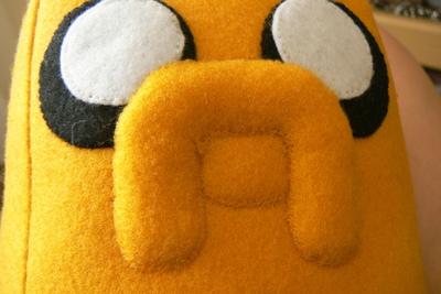 How to make a dog plushie. Adventure Time Jake Plush - Step 11