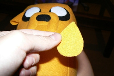 How to make a dog plushie. Adventure Time Jake Plush - Step 13