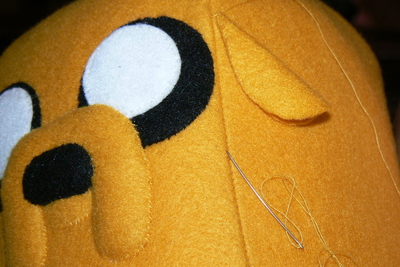 How to make a dog plushie. Adventure Time Jake Plush - Step 15
