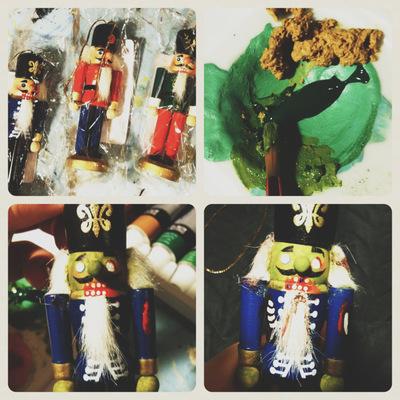 How to make a Christmas decoration. Zombie Nutcracker Tutorial - Step 1