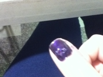 How to paint patterned nail art. Space Purple Nails - Step 1
