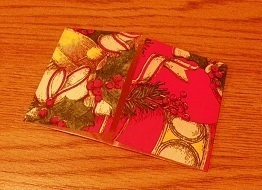 How to make a folding. Mini Christmas Box - Step 4