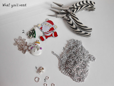 How to make a bracelet. Diy Christmas Charm Bracelet - Step 1