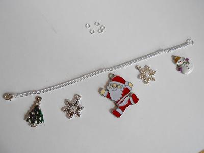 How to make a bracelet. Diy Christmas Charm Bracelet - Step 3