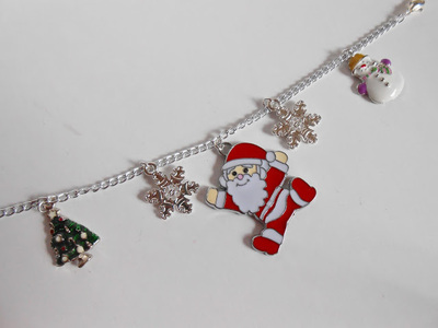 How to make a bracelet. Diy Christmas Charm Bracelet - Step 4