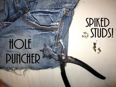 How to make shorts. Update Your Jeans: Diy Studded & Frayed Shorts - Step 7