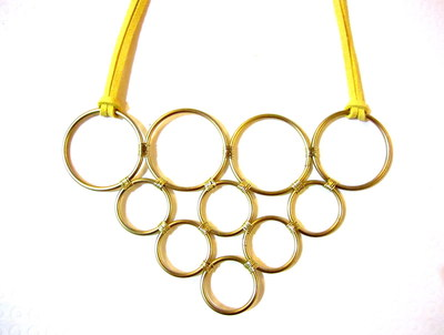 How to make a wire hoop necklace. Diy Pyramid Ring Necklace - Step 7