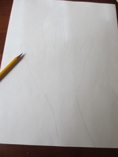 How to draw a 3D drawing. 3 D Hand Drawing - Step 1