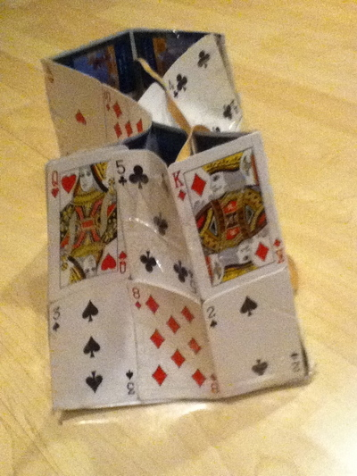 How to make a recycled bag. Playing Card Purse - Step 2
