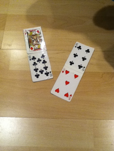 How to make a recycled bag. Playing Card Purse - Step 3
