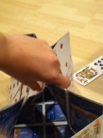 How to make a recycled bag. Playing Card Purse - Step 9
