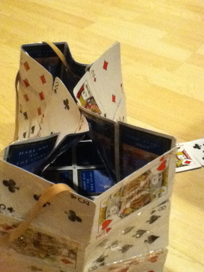 How to make a recycled bag. Playing Card Purse - Step 10