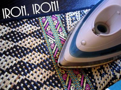 How to make a recycled clutch. Diy Update A Bland Ikat Print Straw Clutch - Step 6