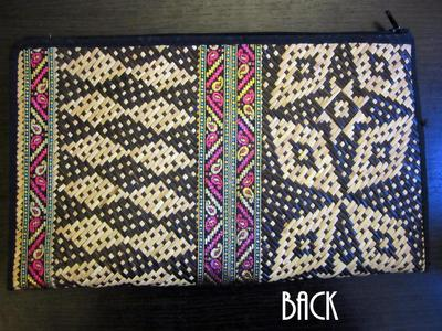 How to make a recycled clutch. Diy Update A Bland Ikat Print Straw Clutch - Step 8