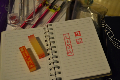How to make a stamper. Name Stamp Out Of Eraser - Step 2