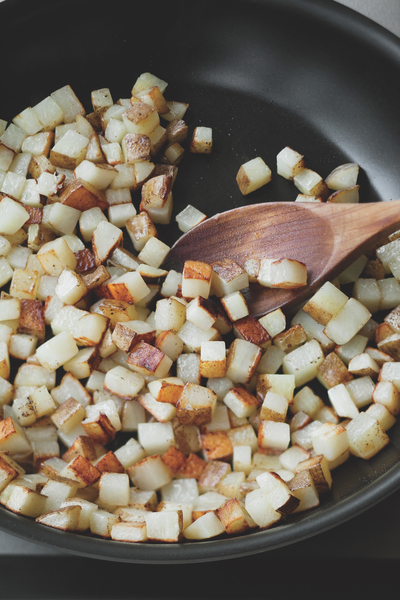 How to cook a hashbrown. Meatless Hash - Step 3