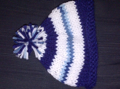 How to make a baby hat. Newborn Knit Hat - Step 4