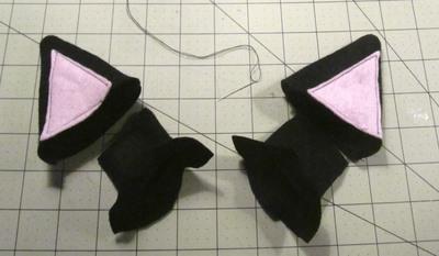 How to make an ear / horn. Necomimi Ears - Step 16