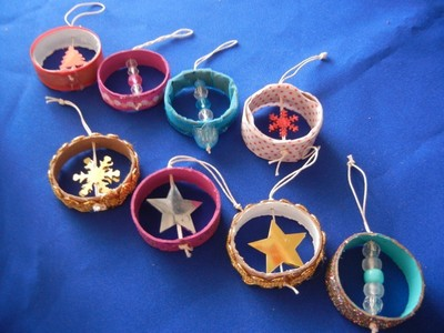 How to make a Christmas decoration. Recicled Christmas Ornaments - Step 7