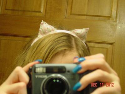 How to make an ear / horn. Kitten Head Band - Step 6
