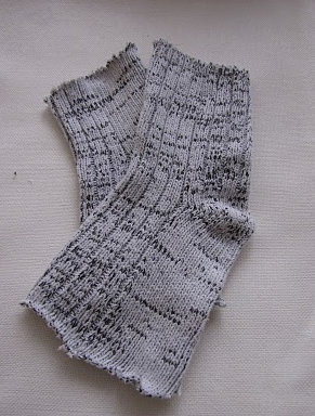 How to make a pair of sock gloves. Transform Socks Into Warmers - Step 1