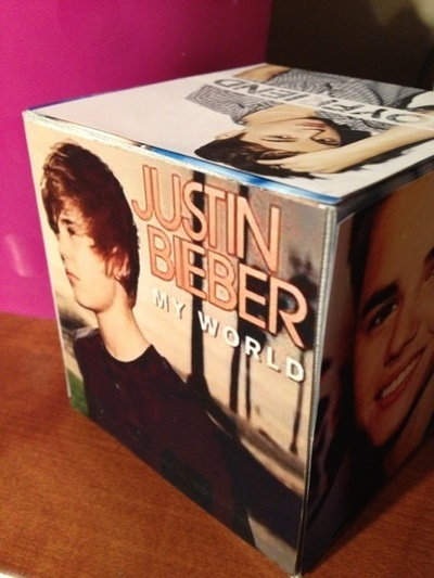 How to make a photo block. Justin Bieber Photo Cube - Step 3