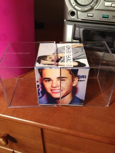 How to make a photo block. Justin Bieber Photo Cube - Step 5