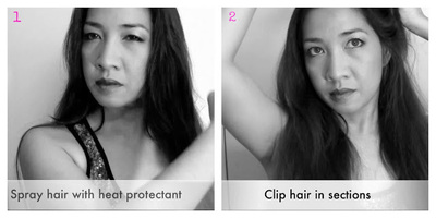 How to style a curly hairstyle / wavy hairstyle. Celebrity Loose Waves - Step 2