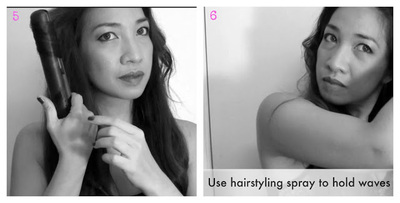 How to style a curly hairstyle / wavy hairstyle. Celebrity Loose Waves - Step 4