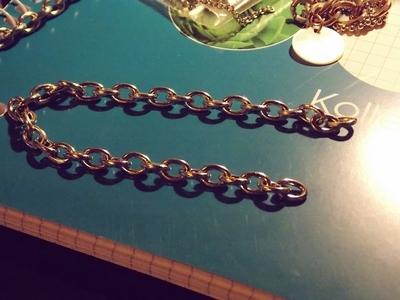 How to make a spike bracelet. Spike Bracelet - Step 1