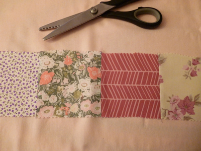How to make a fabric cuff. Patchwork Fabric Frienship Bracelet - Step 5