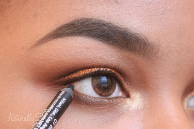 How to create a glitter eye. Bronze Glitter Holiday Makeup - Step 10