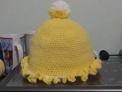 How to make a baby hat. Baby Ruffle Hat - Step 12