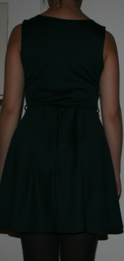How to embellish a dress with chains. Low Back Dress With Chains - Step 1