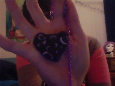How to sculpt a clay shape necklace. Where's The Key To My Leopard Heart? - Step 1