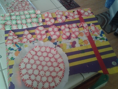 How to make a Christmas decoration. Starlight Candy Decorations - Step 6