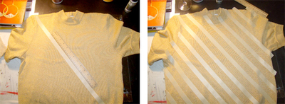 How to make an embellished top. Glitter Painted Top - Step 1