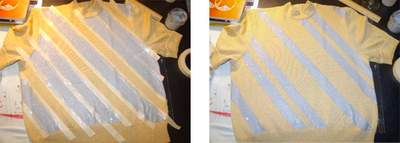 How to make an embellished top. Glitter Painted Top - Step 2