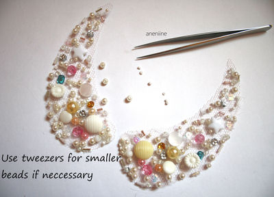 How to make a beaded collar. Beaded Collar Necklace - Step 8