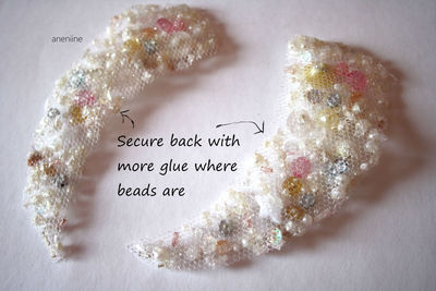 How to make a beaded collar. Beaded Collar Necklace - Step 9