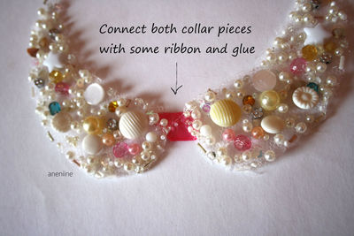 How to make a beaded collar. Beaded Collar Necklace - Step 16