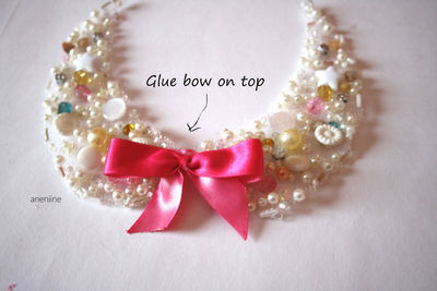 How to make a beaded collar. Beaded Collar Necklace - Step 17